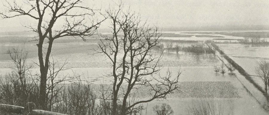 Flooded Missouri River bottomland (page image)
