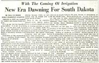 Irrigation excitement spreads