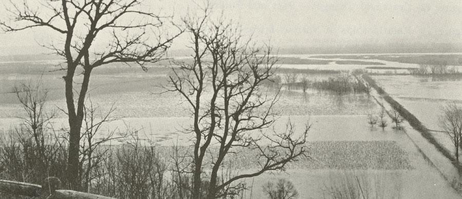 Flooded Missouri River bottomland