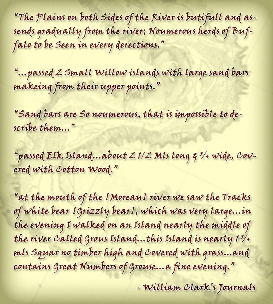 William Clark Journal Excerpts