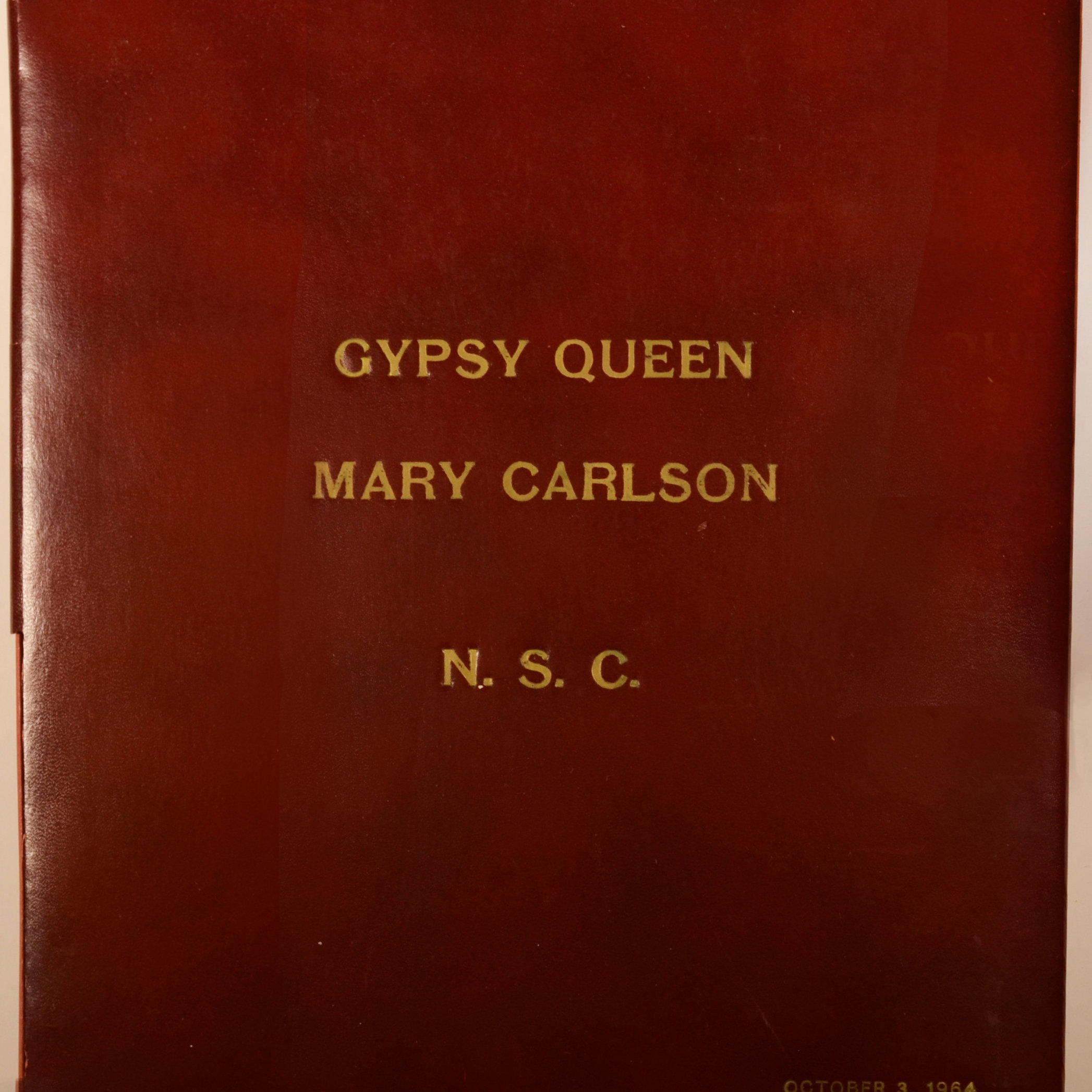 Mary Carlson Scrapbook Front Cover